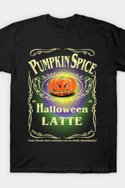 PUMPKIN SPICE HALLOWEEN LATTE DISTRESSED T-Shirt