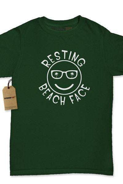 Resting Beach Face Womens T-shirt