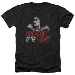 Rocky Horror Picture Show – Creature Of The Night Heather T-Shirt | TeeShirtPalace