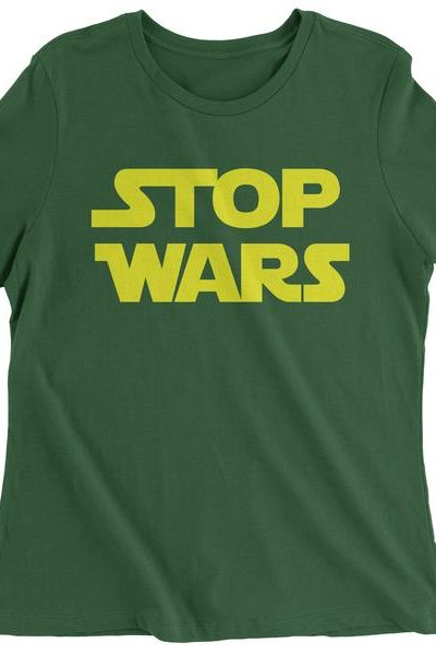 Stop Wars Now Womens T-shirt