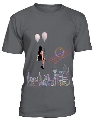 "streetart shirt ""Balloon Swing Flight"""