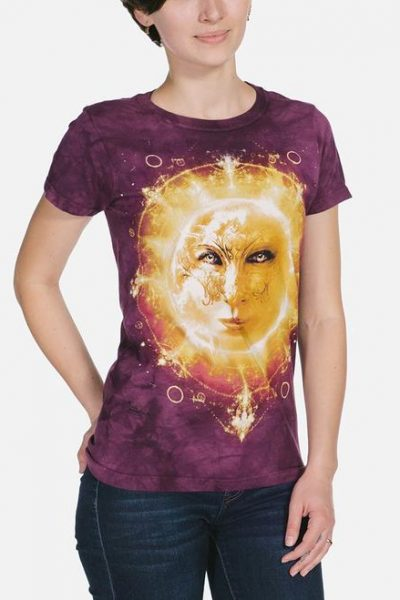 Sun Face Womens T-Shirt