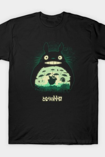 Totoro And His Umbrellas T-Shirt
