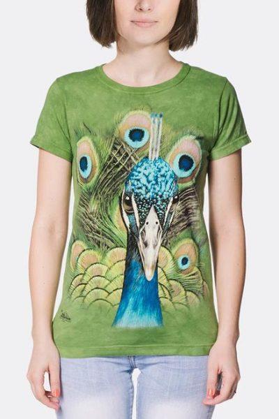 Vibrant Peacock Women's T-Shirt
