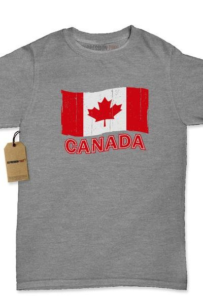Vintage Canada Flag Womens T-shirt