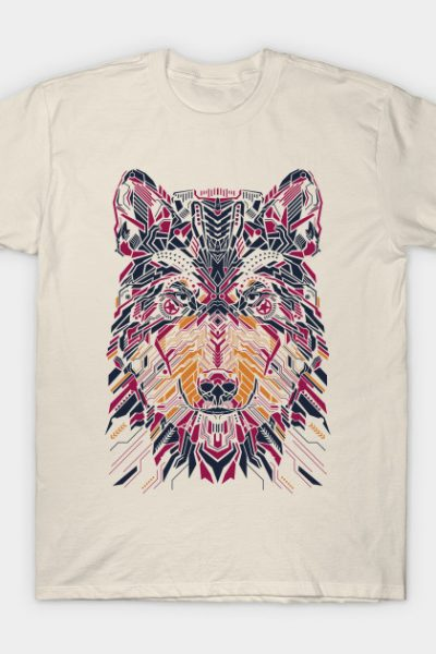 Wolfie on bright tees T-Shirt
