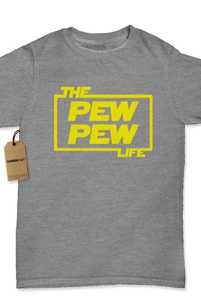 (Yellow) The Pew Pew Life Womens T-shirt