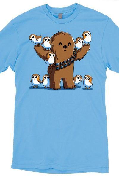 Chewie and Porgs T-Shirt | Official Star Wars Tee – TeeTurtle