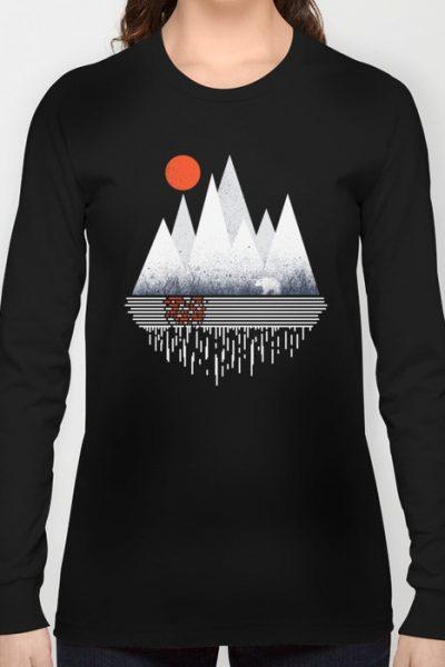 Chill of Winter Long Sleeve T-shirt by therocketman