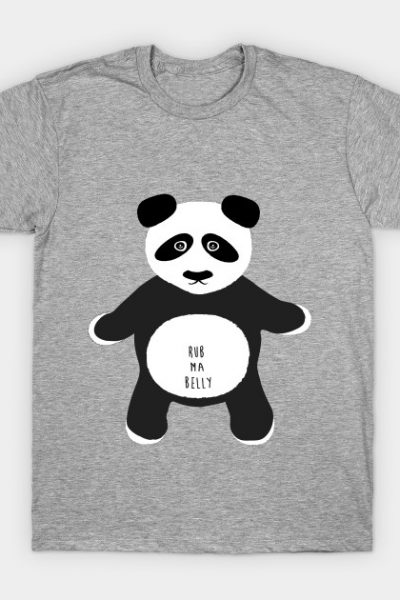 Funny Lucky Panda Shirt Rub Belly for Good Luck T-Shirt