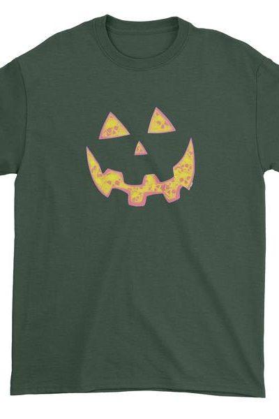 Jack O' Lantern Face with Skulls Mens T-shirt