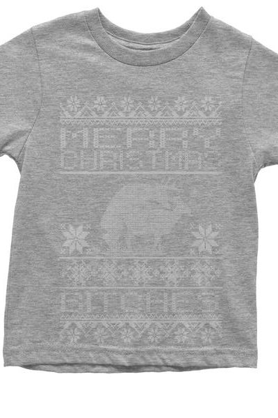 Merry Christmas B-tches Ugly Christmas Youth T-shirt