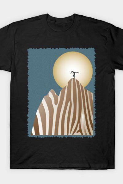 Moonlight Yoga over the Zebra Mountain T-Shirt