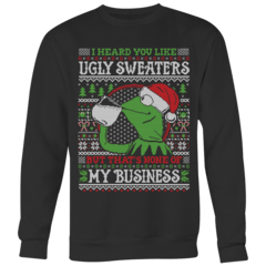 None of My Business Ugly Christmas Sweater – Curious Rebel