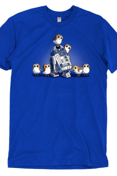 R2-D2 and Porgs T-Shirt   Official Star Wars Tee – TeeTurtle