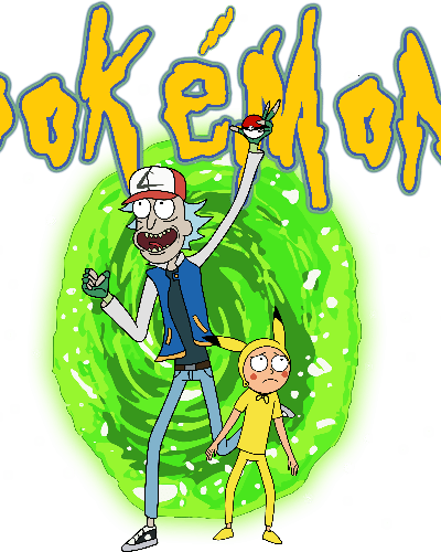 Rick and Morty enter Pokemon world