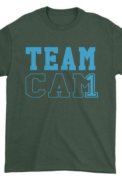 Team Cam #1 Quarterback Football Mens T-shirt