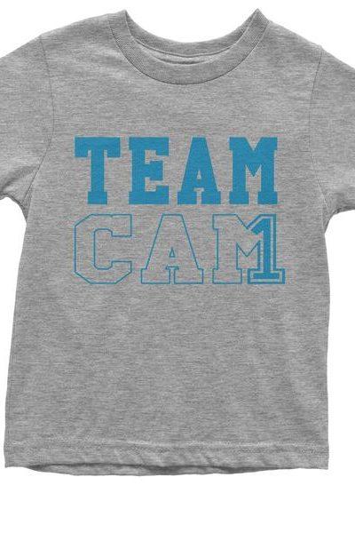 Team Cam #1 Quarterback Football Youth T-shirt