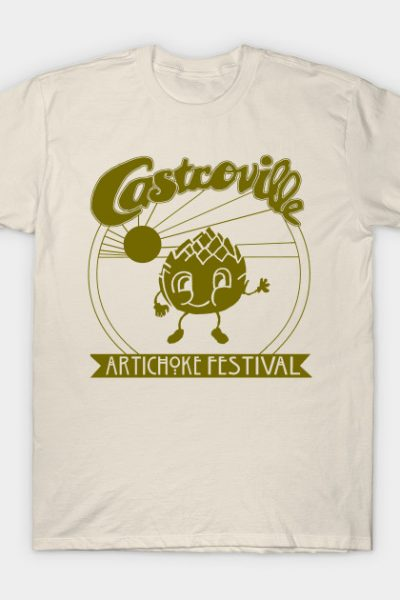 The Original CASTROVILLE ARTICHOKE FESTIVAL – Dustin's shirt in Stranger Things T-Shirt