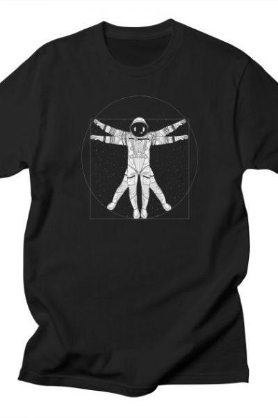 Vitruvian Spaceman (Light Ink) | 84collective