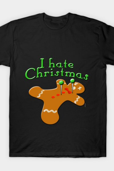 Voodoo Gingerbread Man I Hate Christmas T-Shirt