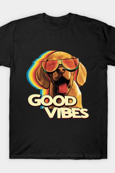 Watermelon Sunglasses Happy Dog Vibes T-Shirt