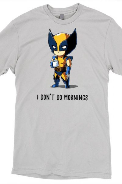 Wolverine I Don't Do Mornings T-Shirt | Official X-Men Tee – TeeTurtle