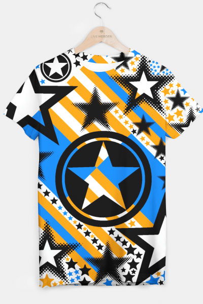 BLACK GOLD AND BLUE-STARS 2 T-shirt, Live Heroes