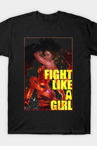Fight Like A GIrl – Wonder Woman T-Shirt