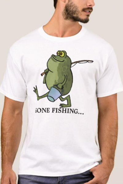 frog gone fishing T-Shirt