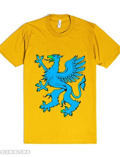 gryphon rampant blue | T-Shirt | SKREENED