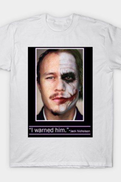 Heath Leger Joker Sadness T-Shirt
