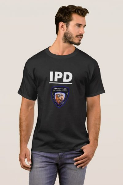 Idiotville Police Department Abbreviated and Patch T-Shirt