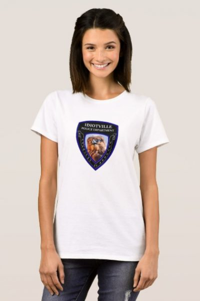 Idiotville Police Department Chest Patch T-Shirt