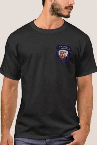 Idiotville Police Department Small Logo T-Shirt