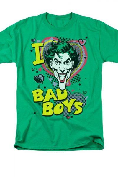 Joker- I Heart Bad Boys 2 Adult Regular Fit T-Shirt