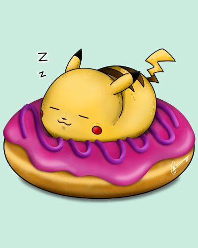 Pika! Donut Sleep There!