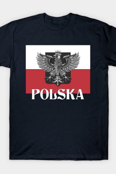 POLSKA – Poland Flag and Shield T-Shirt