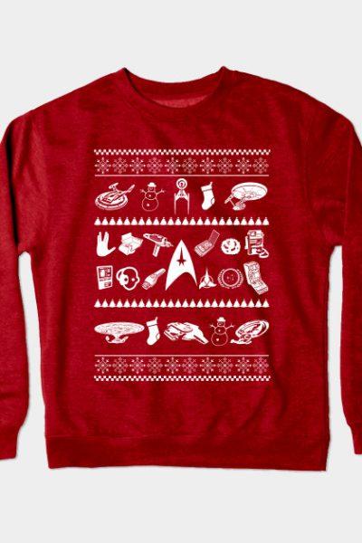 Star Trek Christmas Crewneck Sweatshirt