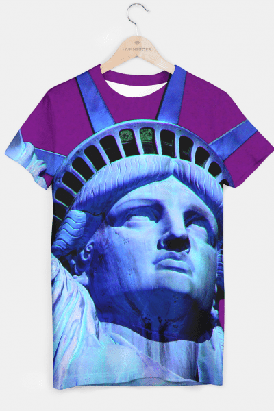 STATUE OF LIBERTY 2 T-shirt, Live Heroes
