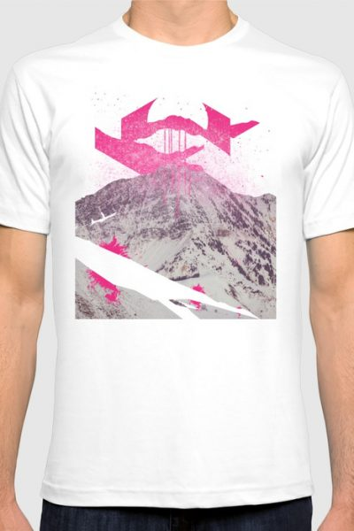 Abstracted Mountains T-shirt by therocketman