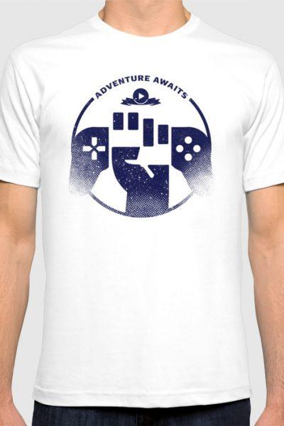 Adventure Awaits T-shirt by therocketman