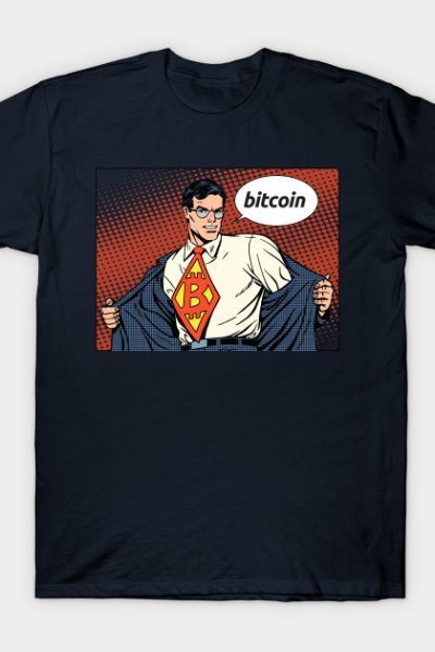 Bitcoin Superhero Comic Book Style T-Shirt