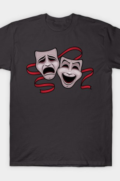 Comedy And Tragedy Theater Masks T-Shirt