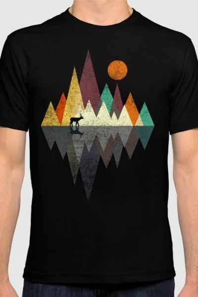 Deer Walker T-shirt by therocketman