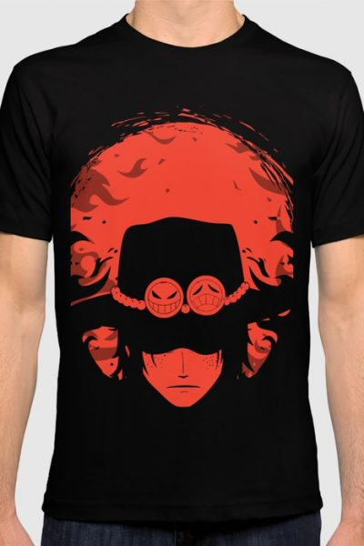Fire Fist Ace T-shirt by ipinations