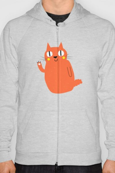 Hello Cat Hoody by therocketman