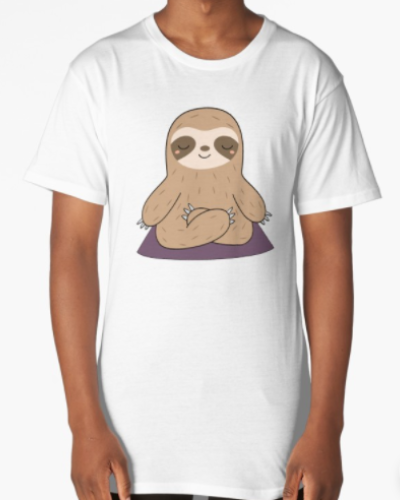 Kawaii Cute Yoga Meditating Sloth