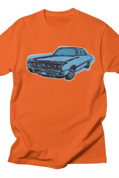 Let's Go! Vintage Car in Blue | Calling Tomorrow's Artist Shop