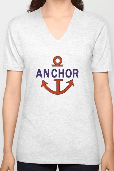 Luffy Anchor Unisex V-Neck by ipinations